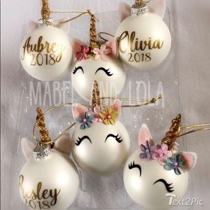 Personalized Unicorn Ornament with FREE gift box